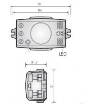 swettews bewegungsmelder mit mikrowellen radar hightech 360 radar led innen. Black Bedroom Furniture Sets. Home Design Ideas